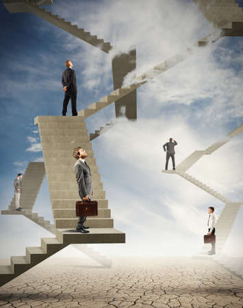 Photo pour Concept of difficulty and complexity in business - image libre de droit