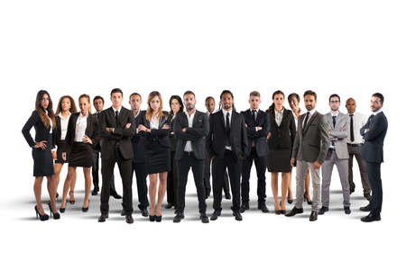Photo pour Business people working together as great team - image libre de droit