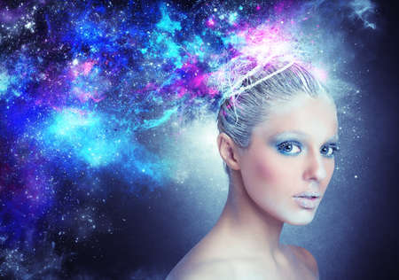 Photo for Woman shines and glows like a star - Royalty Free Image
