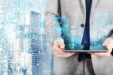 Photo pour The technology that develops in the future - image libre de droit