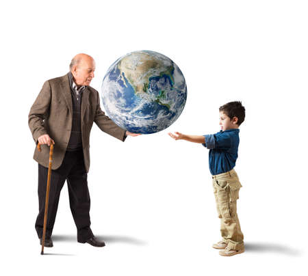 Deliver the world in young people hands. Earth provided by NASA