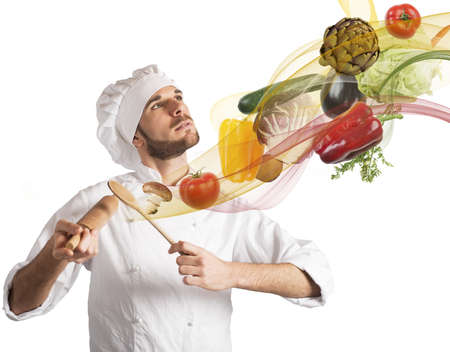 Creative chef plays a harmony of food