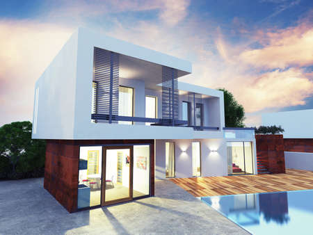 Photo for Project of a luxury villa under construction - Royalty Free Image