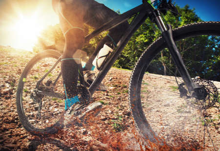 Photo for Cycling on land with stones and ground - Royalty Free Image