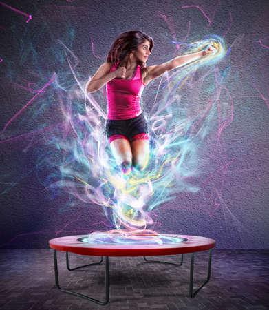 Photo pour Power jump fitness - image libre de droit