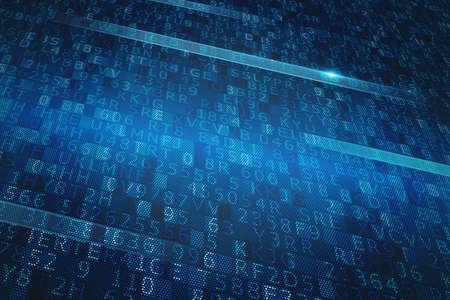 Photo pour Digital binary system - image libre de droit