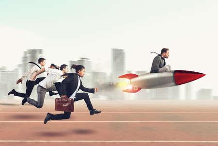 Foto de Overcome and achieve success 3D Rendering - Imagen libre de derechos