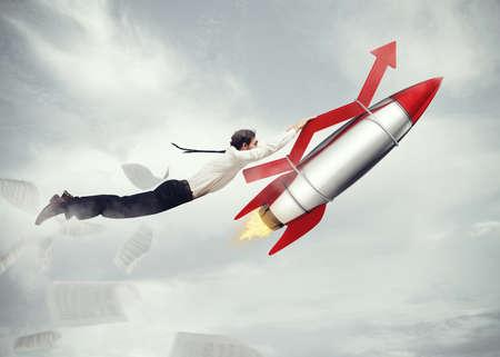 Photo pour Take-off business success. 3D Rendering - image libre de droit