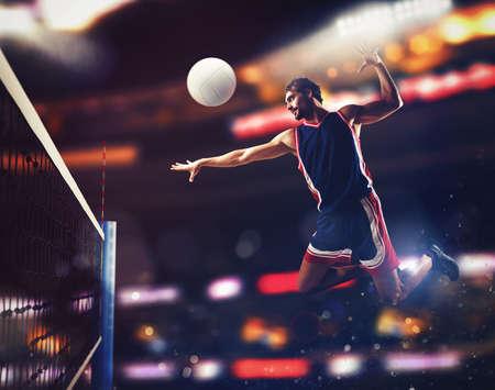Photo pour Player beats ball - image libre de droit