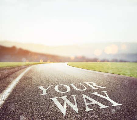 Photo pour Road leading to your future - image libre de droit