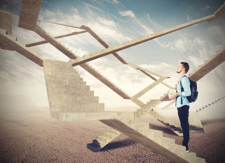 Photo for Endless stairs of future - Royalty Free Image