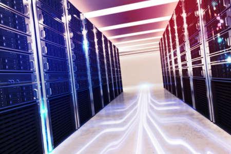 Foto de Room of virtual database - Imagen libre de derechos