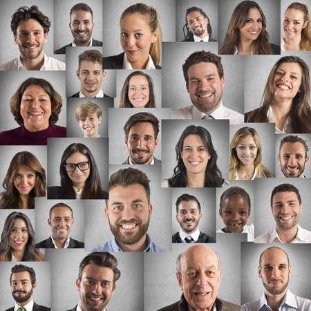 Photo pour Smile collage - image libre de droit