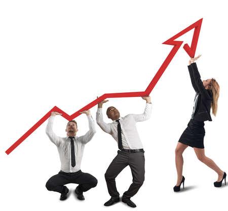 Foto für Business team supports company - Lizenzfreies Bild