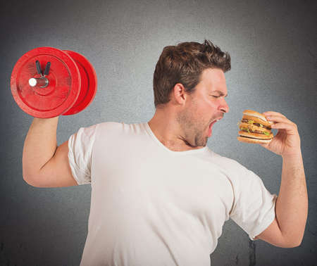 Photo for Weights vs sandwich - Royalty Free Image