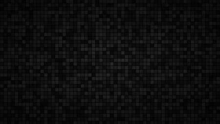 Illustration pour Abstract background of small squares or pixels in black and gray colors - image libre de droit