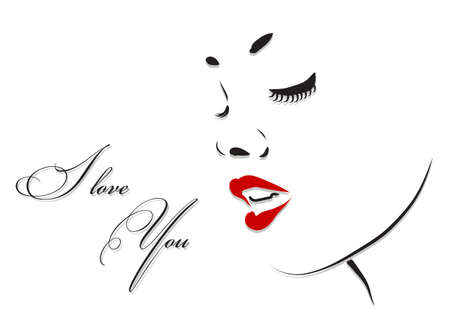 Illustration pour Beautiful woman face profile. Beauty vector illustration - image libre de droit