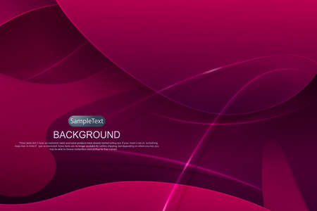 Illustration pour Pink dark design with a gradient, abstract oval shapes, thin stripes with shadow. - image libre de droit