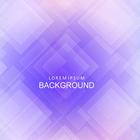 Illustration pour Abstract light purple geometric background, chaotically drawn squares and thin stripes - image libre de droit