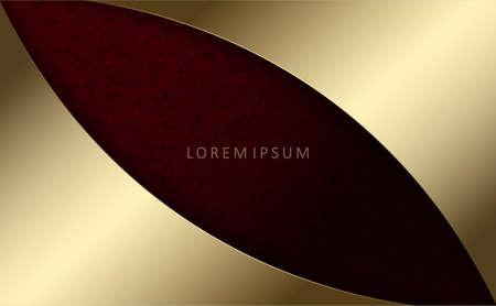Illustration pour Red marble dark textured background, golden curtains - image libre de droit