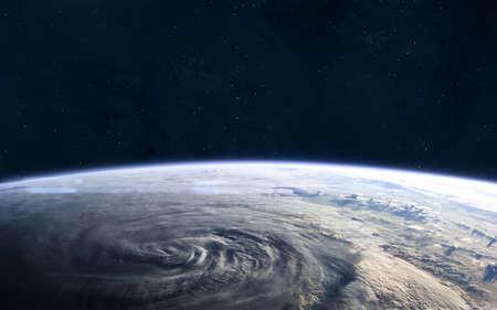 Foto de Earth landscape View from outer space. Solar system. - Imagen libre de derechos