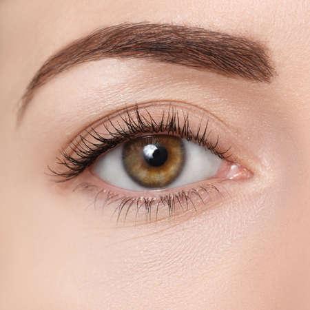 Foto de closeup of brown eye - Imagen libre de derechos