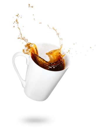 Foto für Mug of spilling coffee - Lizenzfreies Bild
