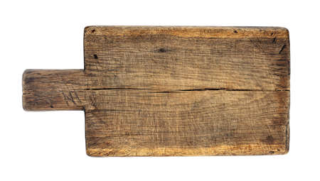 Photo for wooden cutting board isolated on white - Royalty Free Image