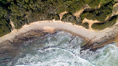 Aerial view of the Atlantic coast in Jard sur Mer, Vendee