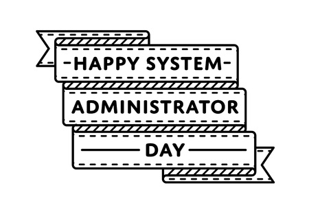 Happy System Administrator day greeting emblem