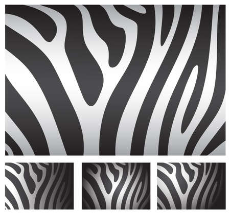 zebra skin backgrounds set