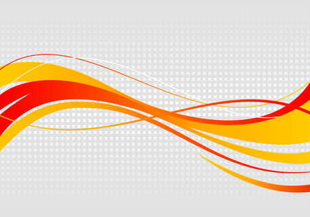 Illustration for Abstract wavy background. Wavy lines on a gray dot background - Royalty Free Image
