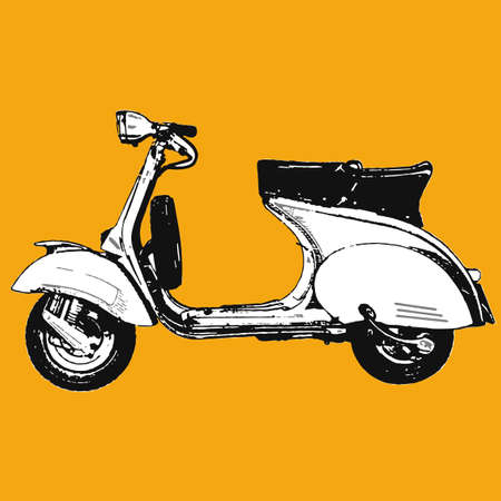 Motocycle scooter illustration