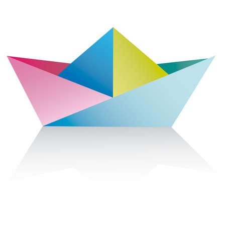Origami Ship (krokotak) | Origami ship, Origami boat, Origami | 450x450