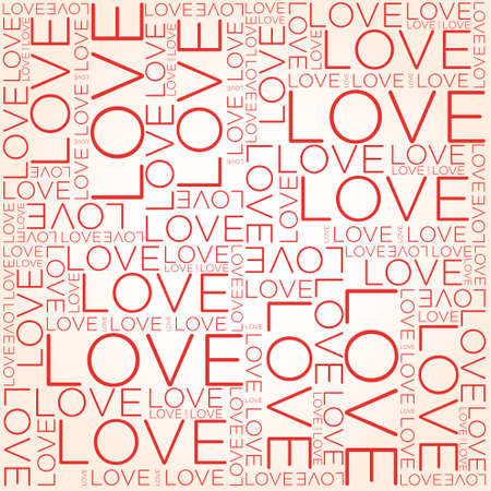 Love word collage