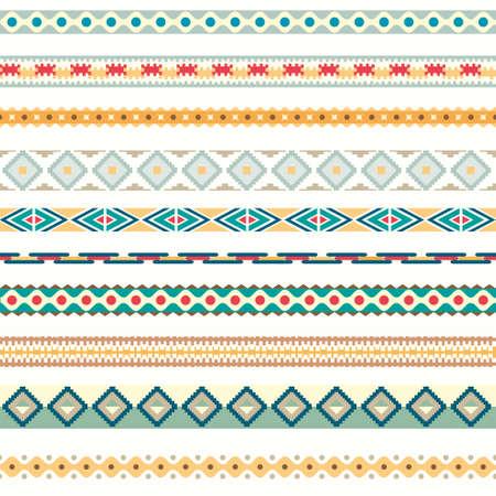 Seamless pattern. illustration for tribal design. Ethnic motif.