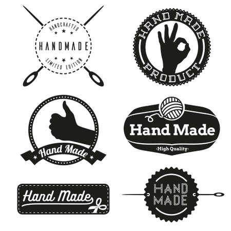 Illustration pour Hand Made logo design logos - image libre de droit