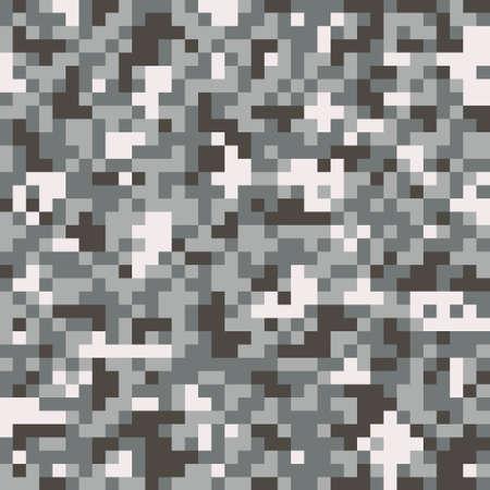 Illustration pour Pixel digital camouflage seamless pattern - image libre de droit
