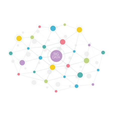 Illustration pour Big data abstract molecule illustration - image libre de droit