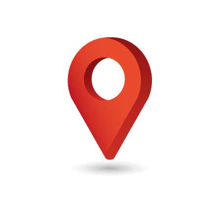Ilustración de Map Pointer symbol. Flat Isometric Icon or Logo. 3D Style Pictogram for Web Design, UI, Mobile App, Infographic. - Imagen libre de derechos