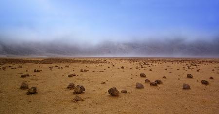 Barren landscape of the planet Mars