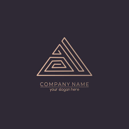 Foto per Letter logo or monogram. blank for business card. For your business. Vector sign. Luxurious linear creative monogram. - Immagine Royalty Free