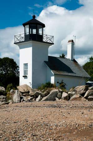 Bristol Ferry Lighthouse in Rhode Island.