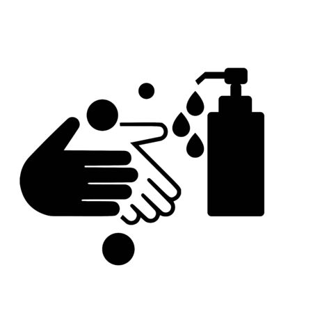 Illustration for Wash your hands icon. Hand Wash Sign - Royalty Free Image