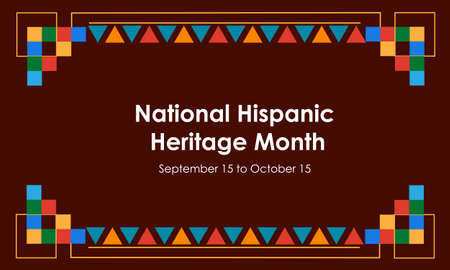 Illustration pour Hispanic National Heritage Month in September and October. Hispanic and Latino culture. Latin American patterns. Vector - image libre de droit