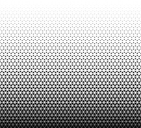 Illustration pour Seamless geometric triangles pattern vector background.Middle fade out. - image libre de droit
