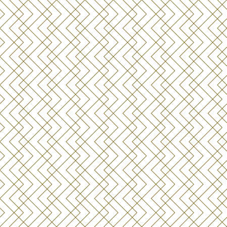 Illustration pour Seamless geometric pattern. Average thickness lines. Brown color lines on white background. - image libre de droit