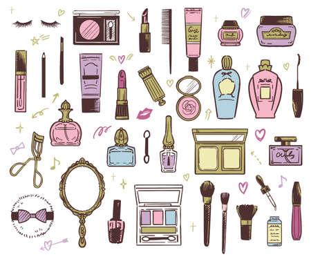 Illustration pour Vector illustration of beauty cosmetics - image libre de droit