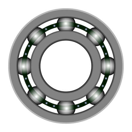 Ball bearing for vector design. Files included - EPS8, CS3, 