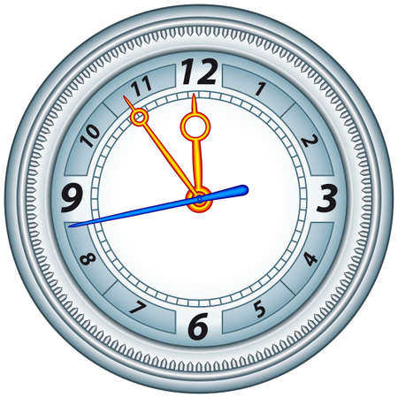 Office clock in a aluminium frame